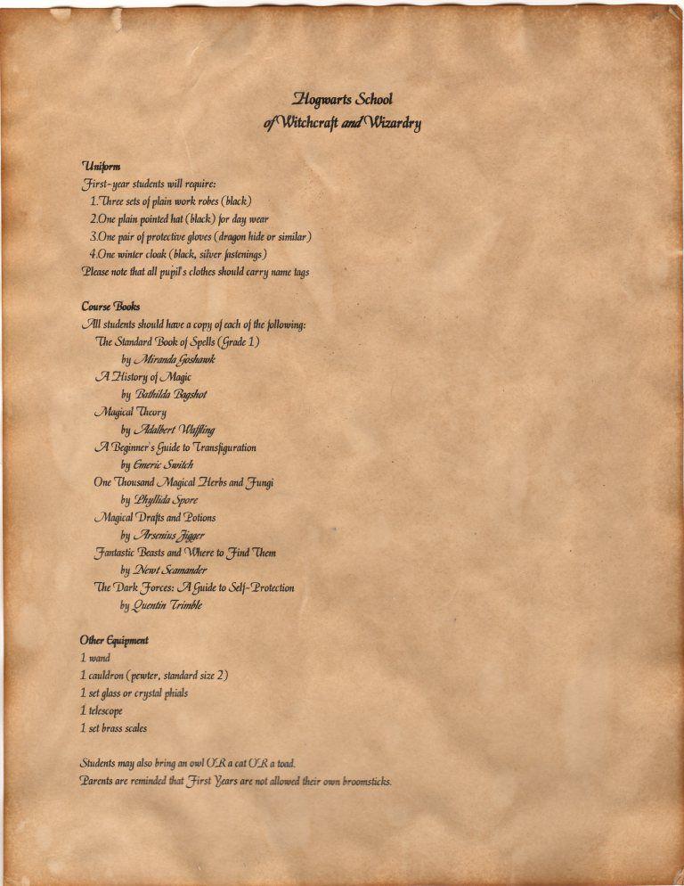 DIY Hogwarts Acceptance Letters Hogwarts acceptance