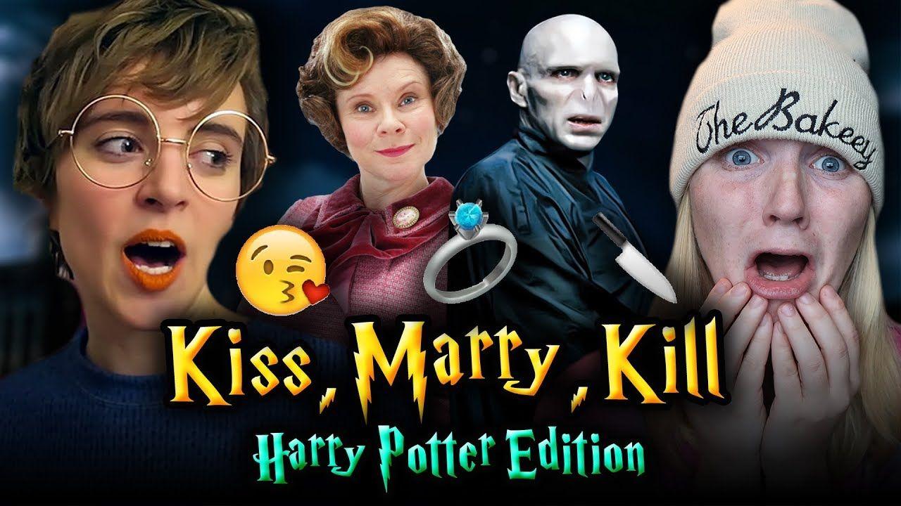 Kiss Marry Kill Harry Potter Edition Ft Tessa Netting Harry Potter Harry Potter