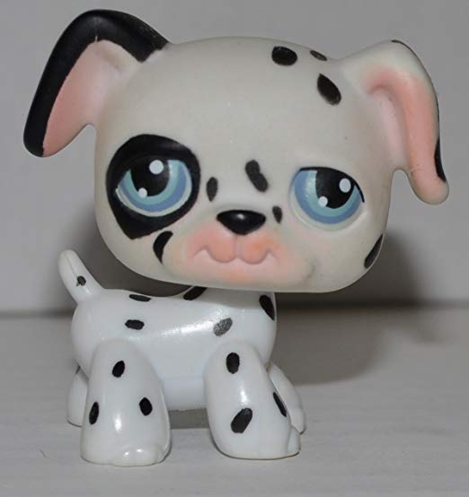 Amazon Com Dalmatian 44 Dog Mold Blue Eyes Littlest Pet Shop Retired Collector Toy Lps Collectible Replacement Littlest Pet Shop Pet Shop Dalmatian