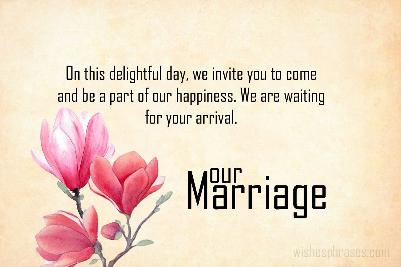 Marriage Invitation Message Wedding messages, Marriage