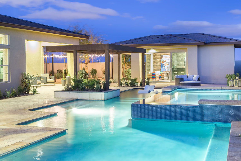 Meridian By Pardee Homes Las Vegas Plan 1 Casita Luxury Swimming Pools Pardee Homes Swimming Pool Designs