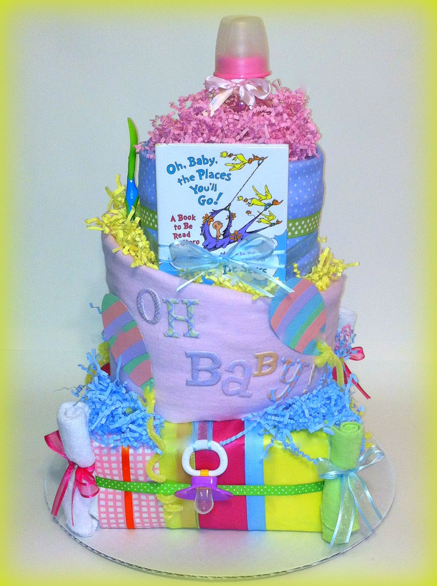 Dr Suess Oh Baby the places you ll go diaper cake