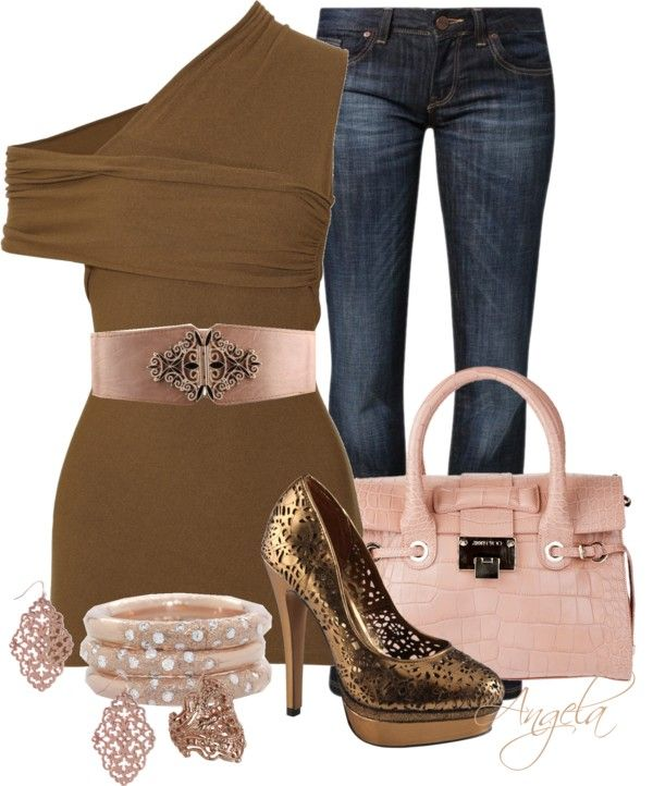 """""""Barely Brown"""" by angela-l-s on Polyvore"""