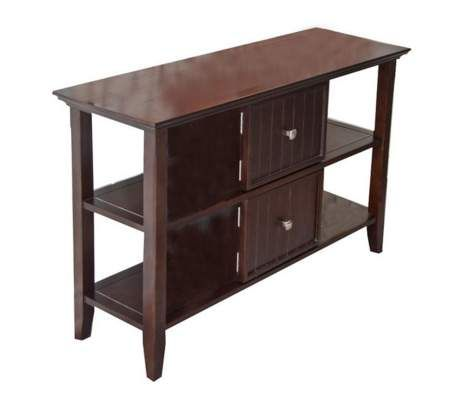Acadian Dark Tobacco Brown Console Table   55DowningStreet.com