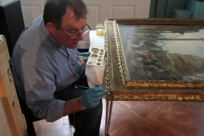 How To Clean Oil Canvas Paintings Hunker Cleaning Oil Paintings Antique Oil Painting Oil Painting On Canvas