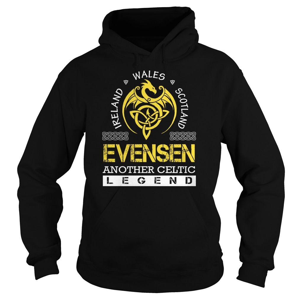 [Love Tshirt name printing] EVENSEN Legend EVENSEN Last Name Surname T-Shirt Top Shirt design Hoodies, Funny Tee Shirts