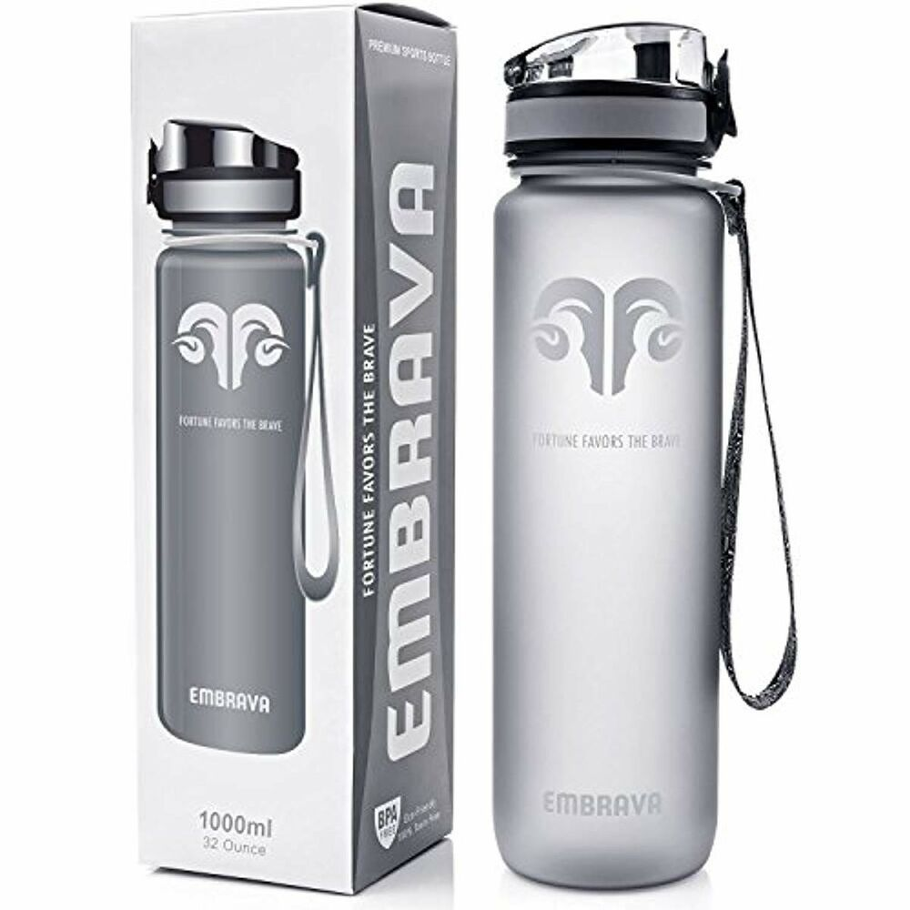 Fast Flow Embrava Best Sports Water Bottle Flip Top Leak Proof L 32oz Large