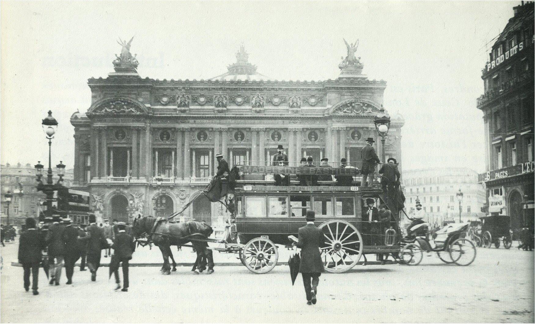 Paris Devant L Op 233 Ra Vers 1910 L Un Des Derniers border=
