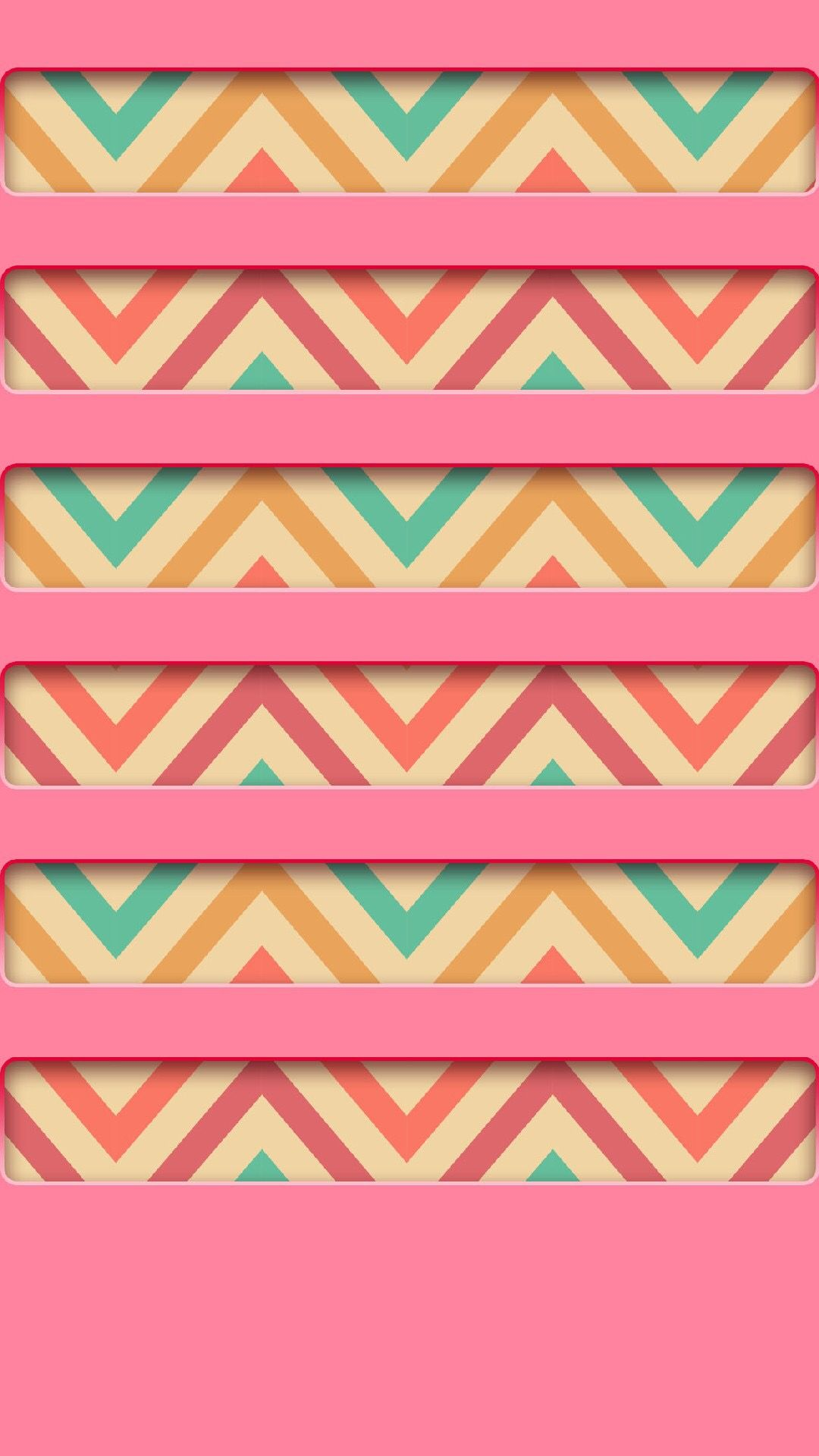 TAP AND GET THE FREE APP! Shelves Colorful Zigzag Stripes