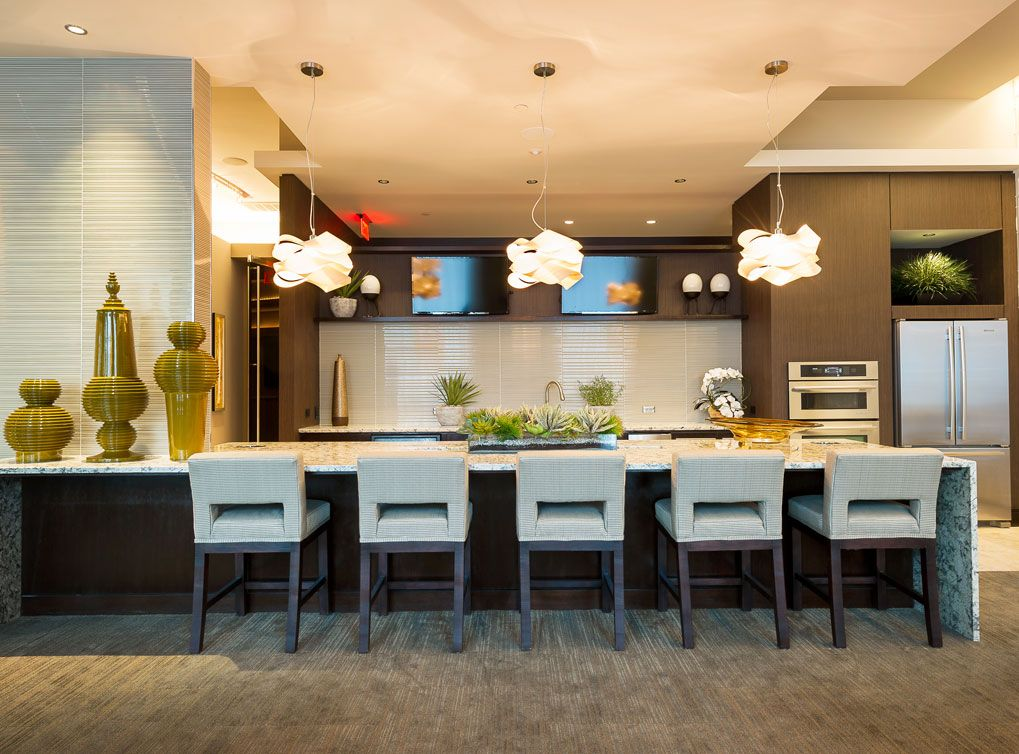 Media Loaded Resident Lounge With Billiards And Kitchen At Amli River Oaks Houston Apartment Apartment Communities Luxury Apartments