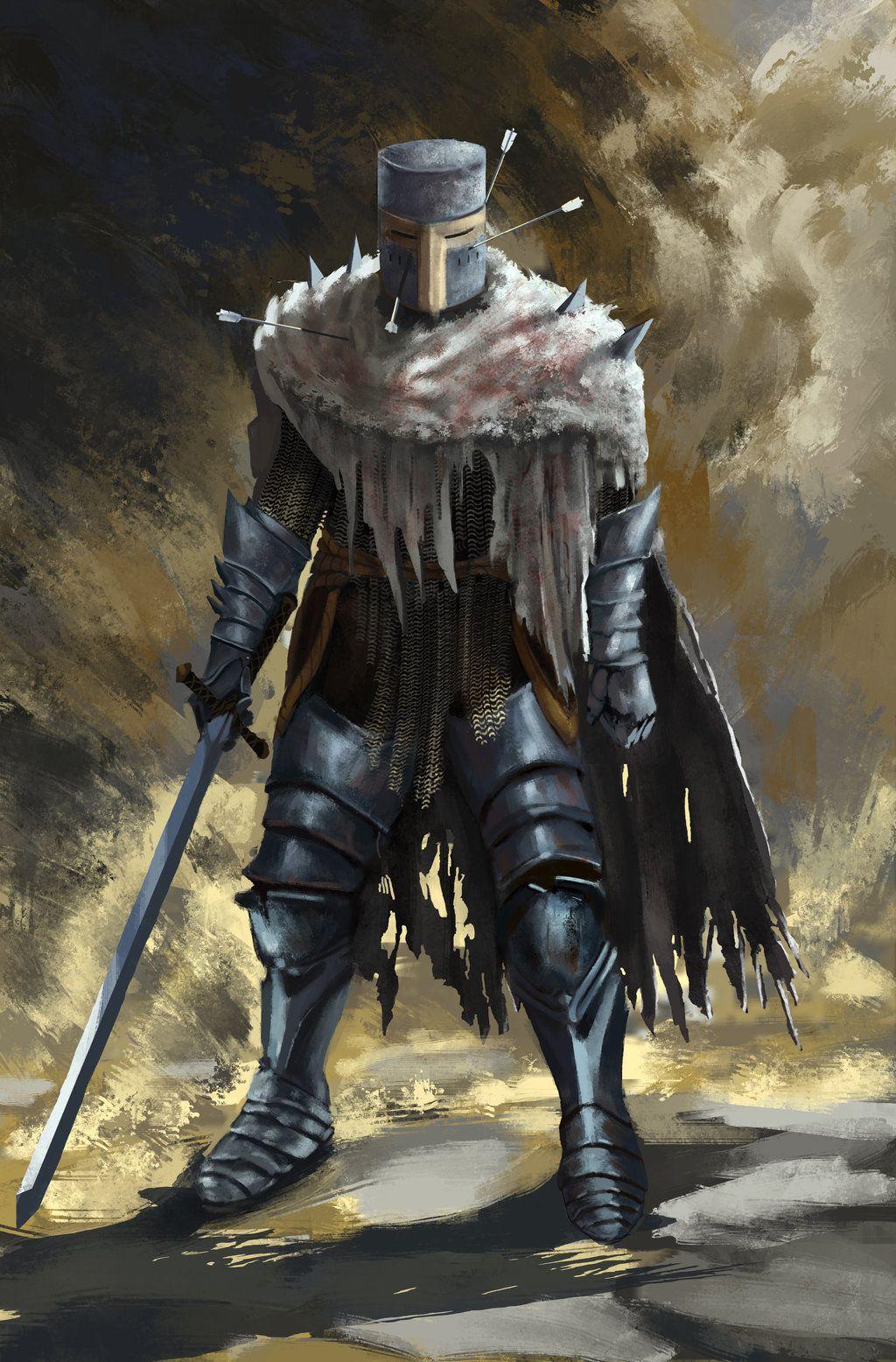 Heide knight (Dark souls fan art) by ProtagonistSe7en