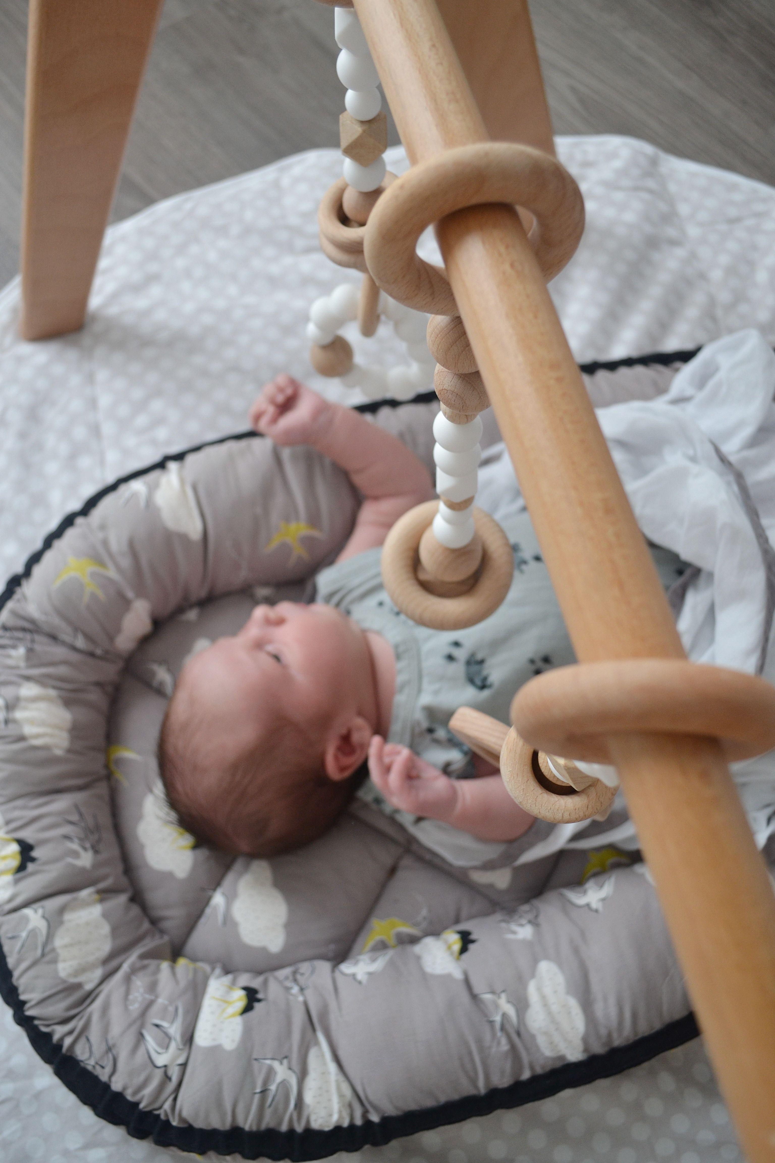 Modern Monty Heirloom Quality Wooden Play Gym A Minimalist Baby Toy