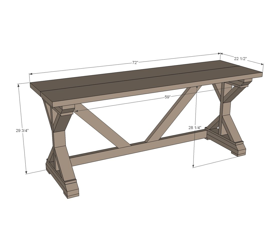 Ana White Build A 55 Fancy X Desk Free And Easy Diy