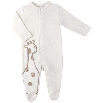 65854c0766eb Amazon.com  Kushies Unisex-Baby Newborn Soft Velour Sleeper Footie ...