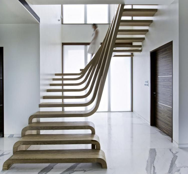 escalier interieur bois design