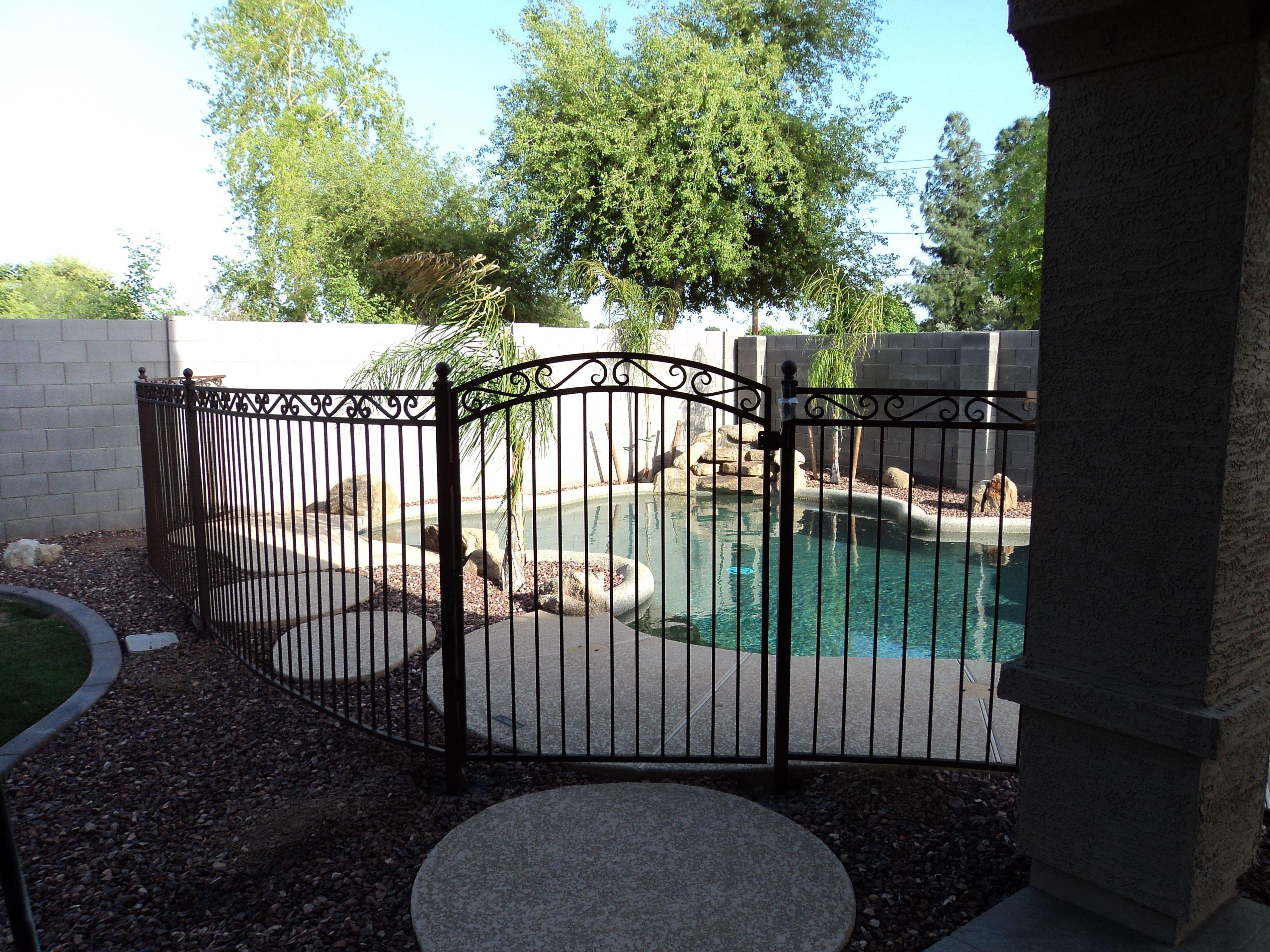 Swimming Pool Fencing Arizona Dcs Pool Barriers Wrought Iron Pool Fence Pool Fence Pool Decor