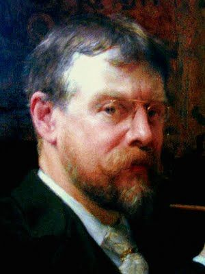 """""""SELF PORTRAIT'  Sir Lawrence Alma-Tadema - (1836-1912)   (8 January 1836 – 25 June 1912) was one of the most renowned painters of late nineteenth-century Britain.  Born in Dronrijp, the Netherlands, and trained at the Royal Academy of Antwerp, Belgium, he settled in England in 1870 and spent the rest of his life there.  A classical-subject painter, he became famous for his depictions of the luxury and decadence of the Roman Empire, with languorous figures set in fabulous marbled interiors…"""