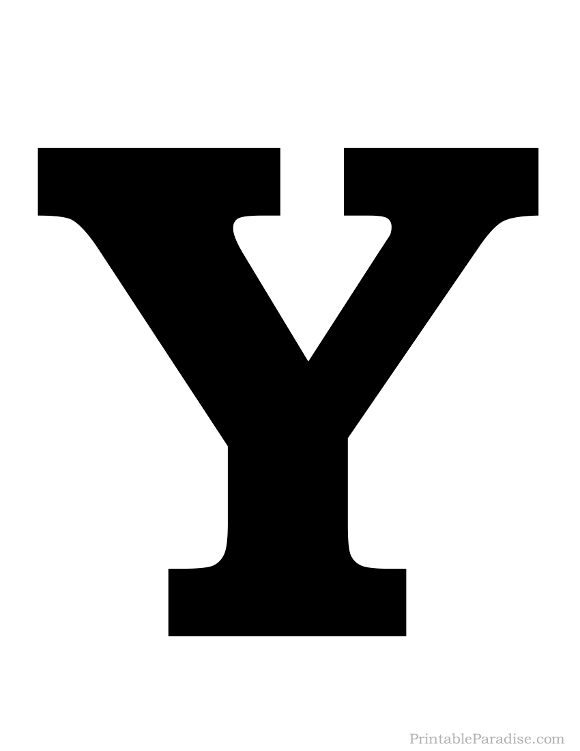 photograph regarding Printable Letter Y named Printable Strong Black Letter Y Silhouette Letter