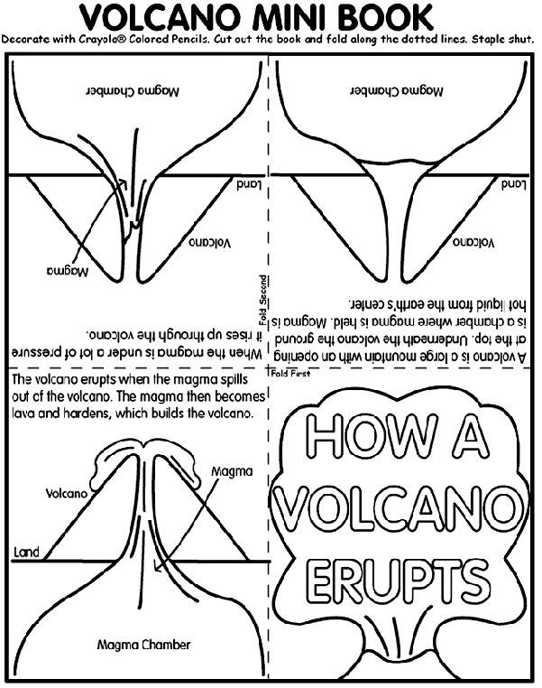 Volcano Mini Book coloring page Teaching Science