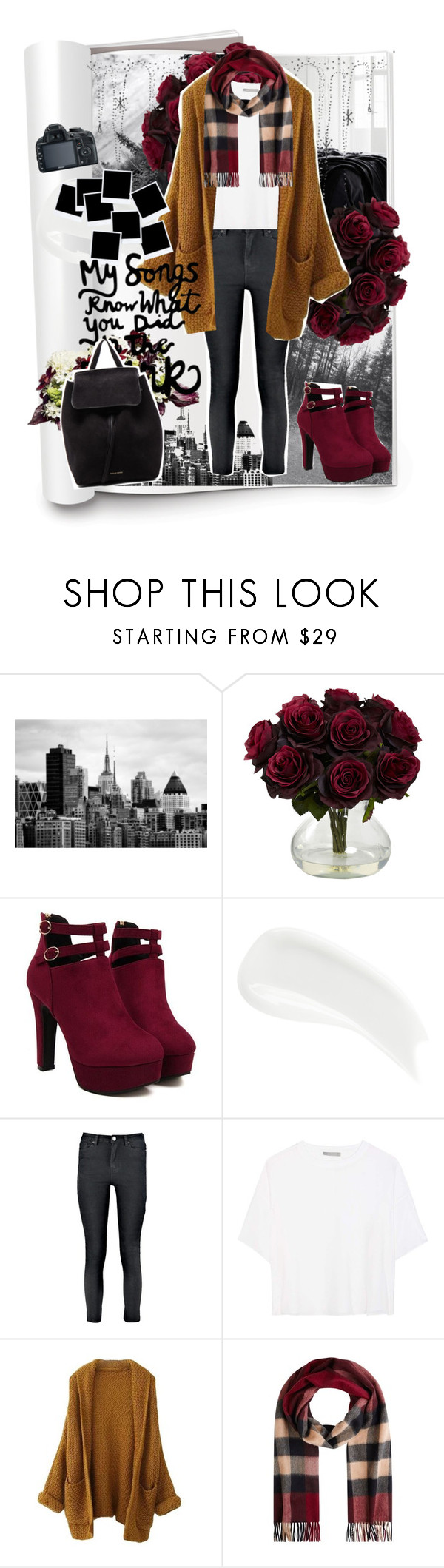 """Young Volcanoes"" by imaginarywings ❤ liked on Polyvore featuring James Read, Boohoo, Vince, Burberry and Mansur Gavriel"