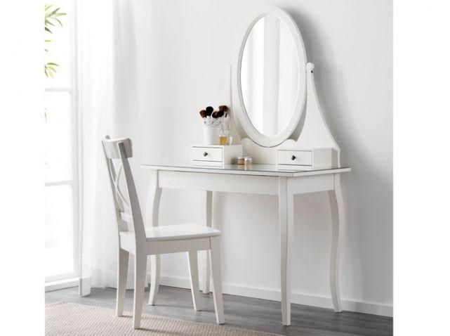 la coiffeuse id ale pour se refaire une beaut coiffeur ikea et romantique. Black Bedroom Furniture Sets. Home Design Ideas