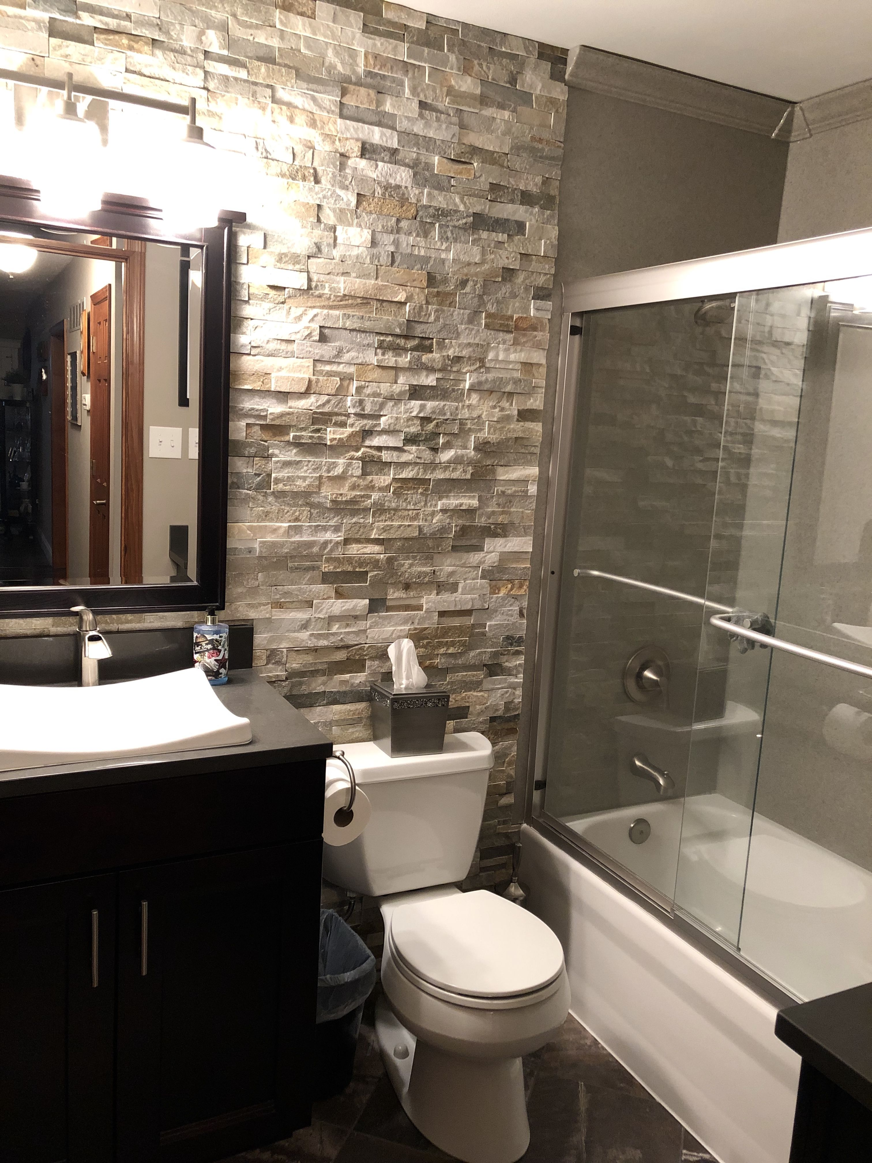 Ledger Stone Accent Wall Shower Remodel Stone Accent Walls Bathroom Accent Wall