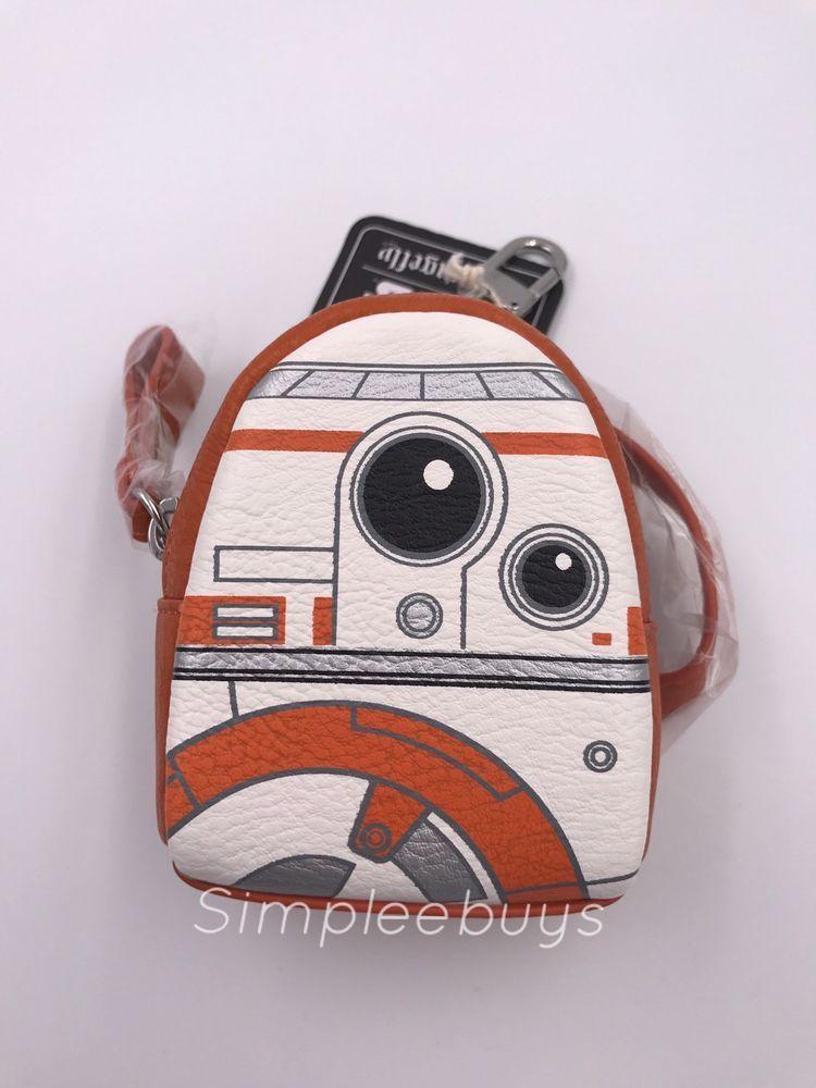 e78e5b676b1f SDCC 2017 Loungefly Star Wars BB8 Mini Backpack Keychain With Zipper  RF