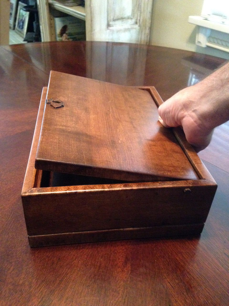 Wooden Box Lid Opening Woodshop Small Wooden Boxes
