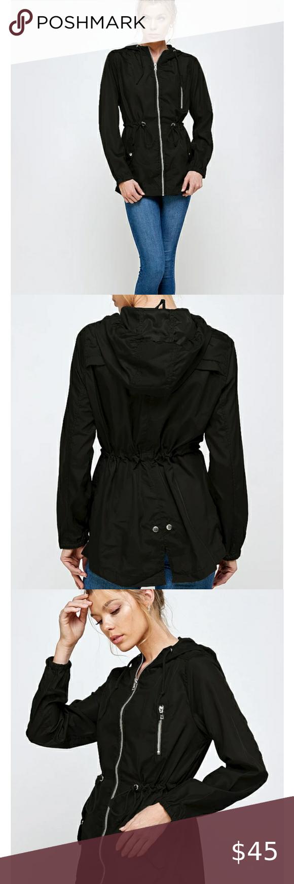 Black Ambiance Lightweight Jacket Coats Jackets Women Lightweight Jacket Ambiance Apparel [ 1740 x 580 Pixel ]