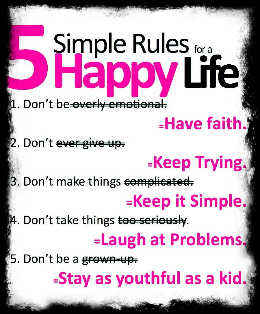 Happy Life Inspirational Quotes 5 Simple Rules For Happy Life  Quotes  Pinterest  Happy Life