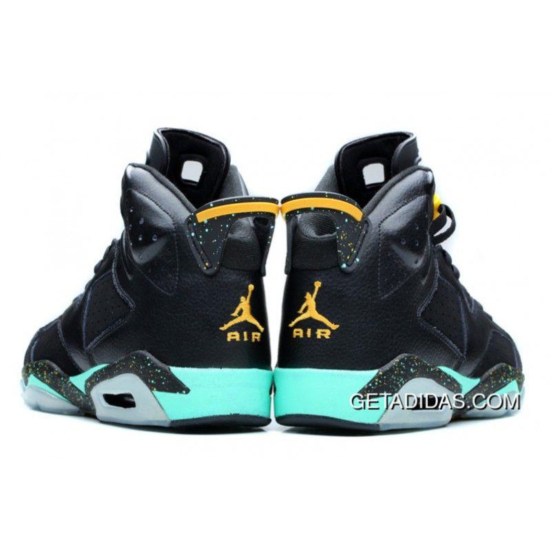 Women Air Jordan 6 Vi Black Green Yellow TopDeals