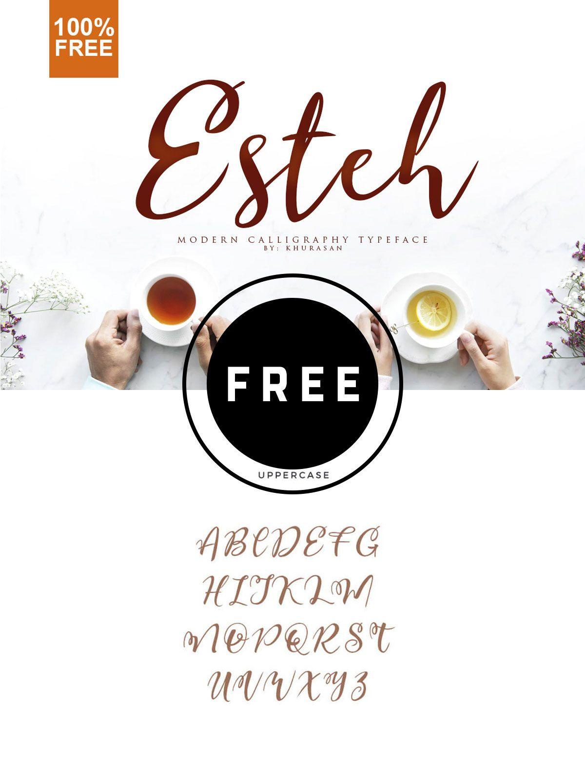 Free Esteh Script Font Free cursive fonts