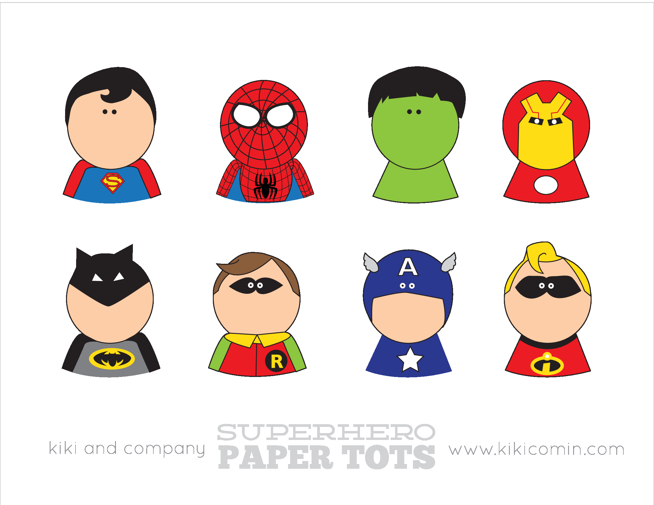 Superhero Paper Tots Regular Size Pdf Superhero Superhero Gifts Superhero Printables