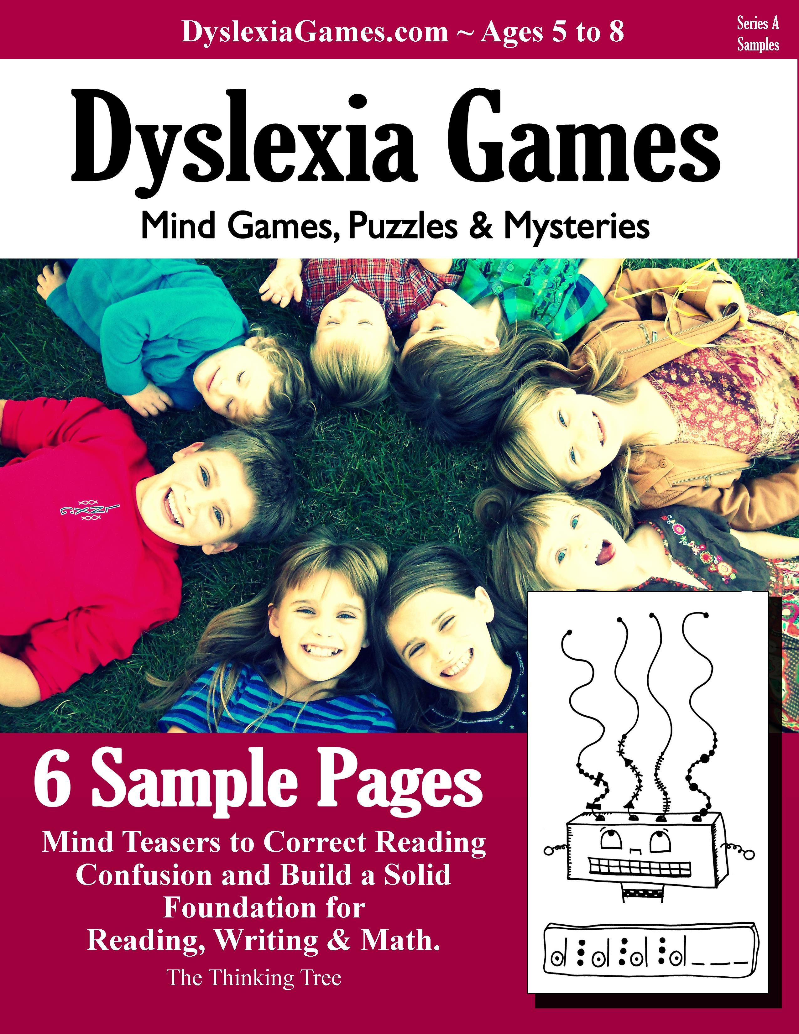 FREE Dyslexia Workbook for Ages 5 to 8 http://www.dyslexiagames.com ...