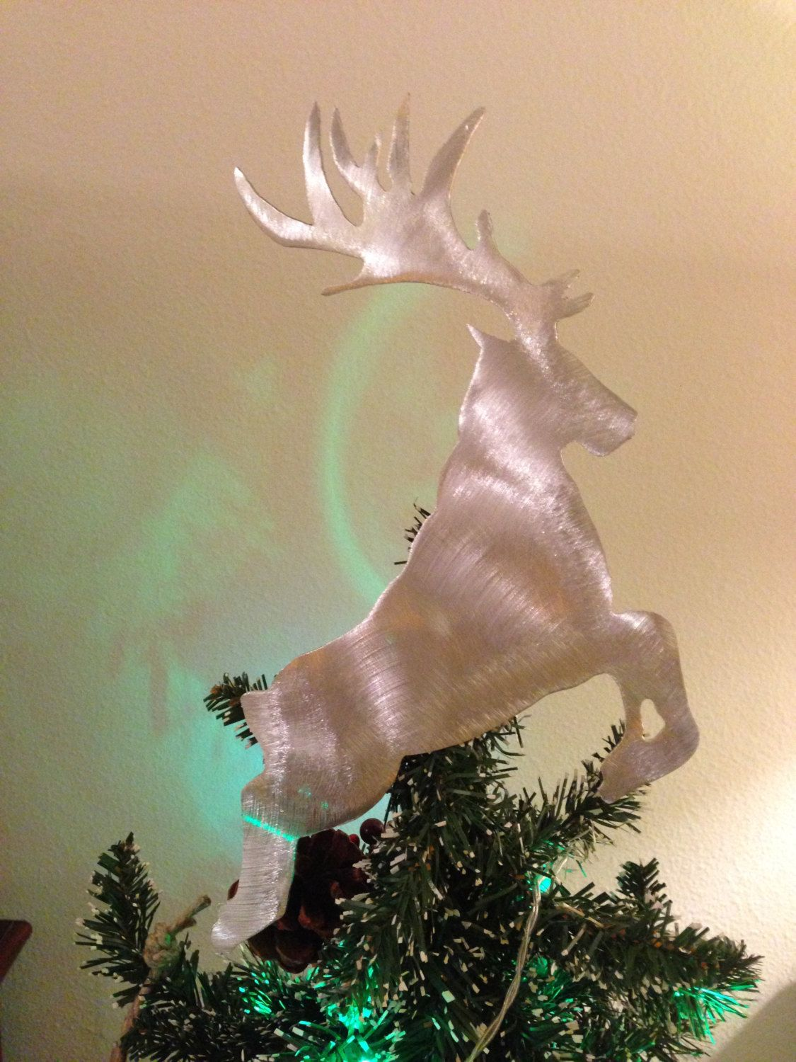 Handcrafted Metal Tree Topper Pointe Dance Ballerina Dancer or Wall Hanging or Wreath Deocation Dancer Gifts Christmas Aluminum