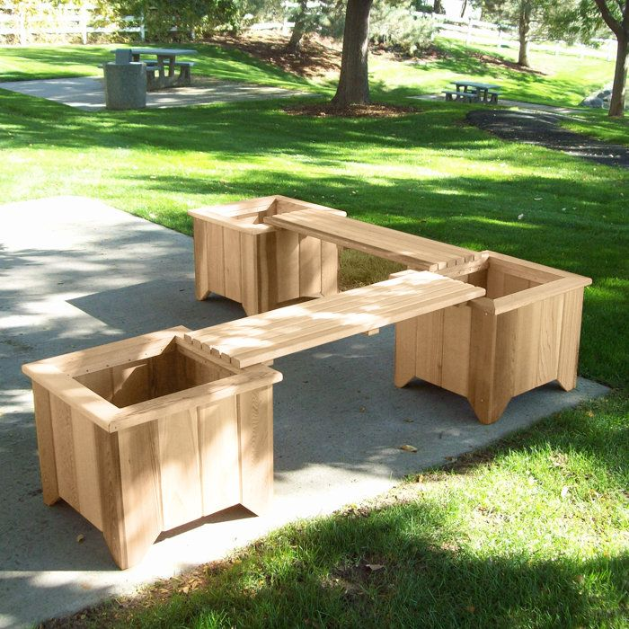 Elegant Planter And Bench Set Would Be Great On My Deck!