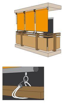JAROLIFT Außenrollos / Senkrechtmarkisen für Balkon (Typ