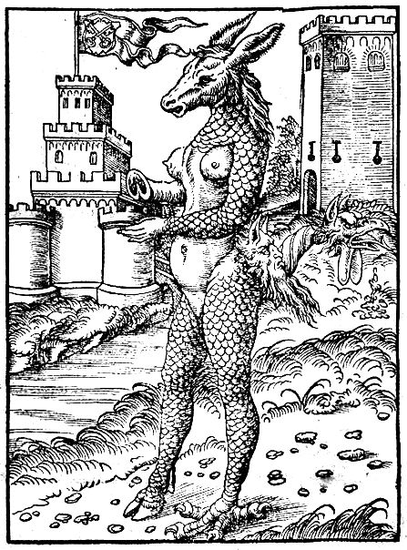 After Lucas Cranach the Elder, The Donkey-Pope of Rome, 1557