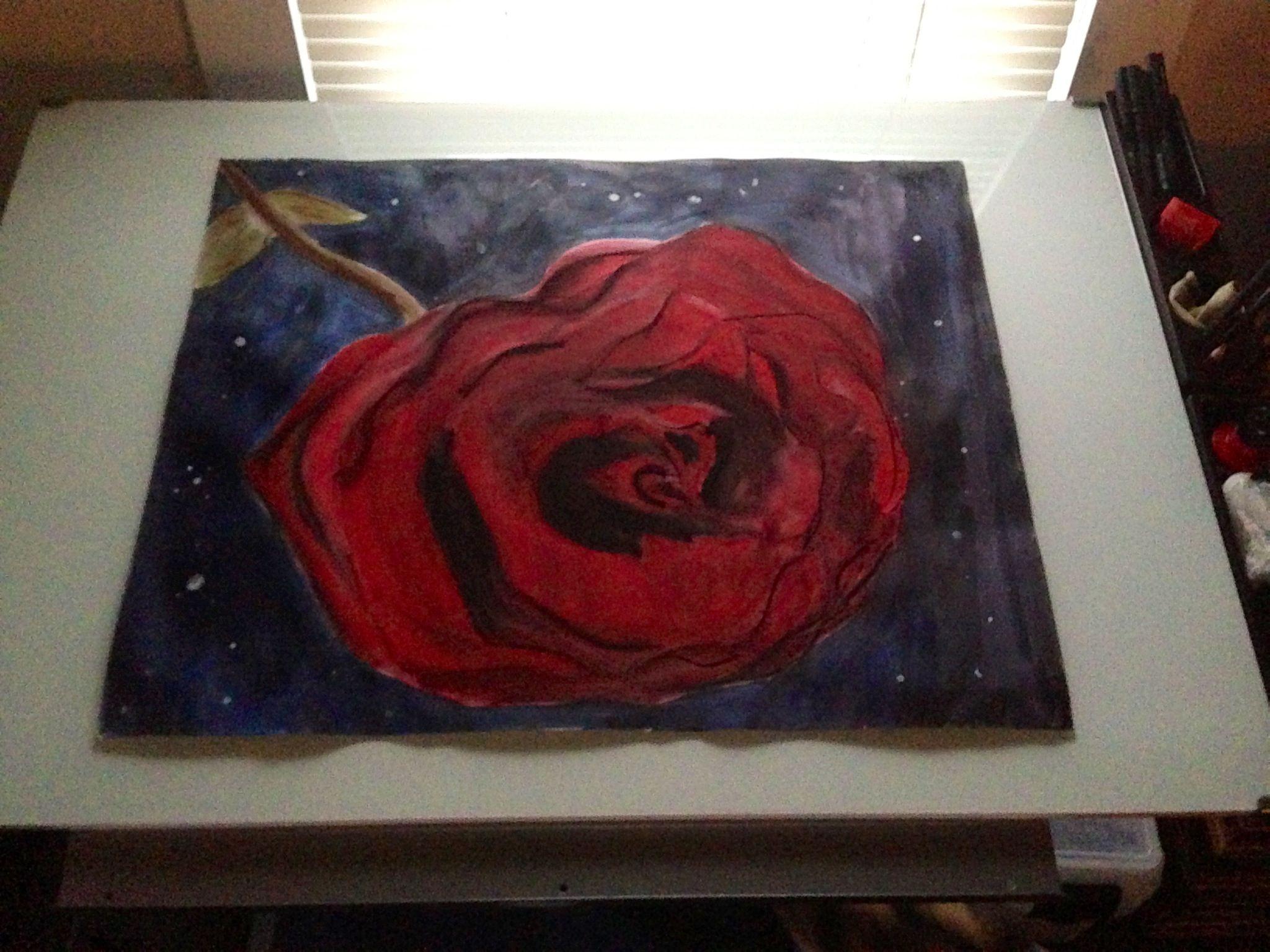 Pastel Ink drawing #Rose #Love