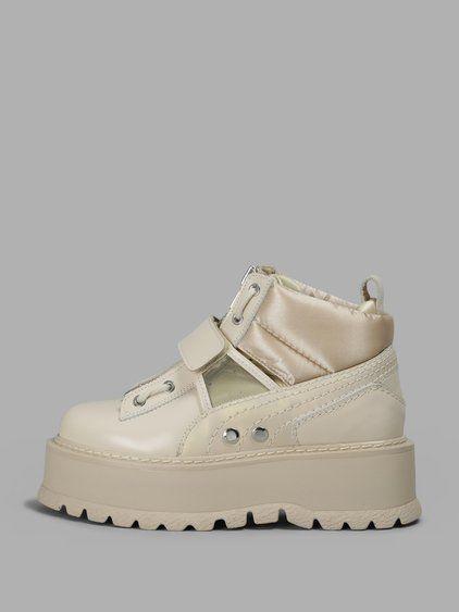 f222723077d5 FENTY X PUMA FENTY X PUMA WOMEN S BEIGE SNEAKER BOOT STRAP.  fentyxpuma   shoes  boots