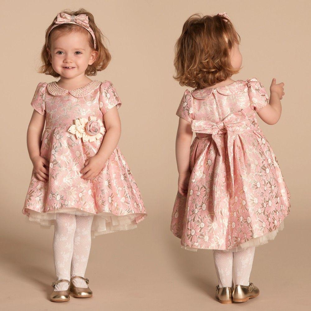 290cfe23fa85 Pink Brocade Dress | kids | Brocade dresses, Dresses, Gold brocade dress