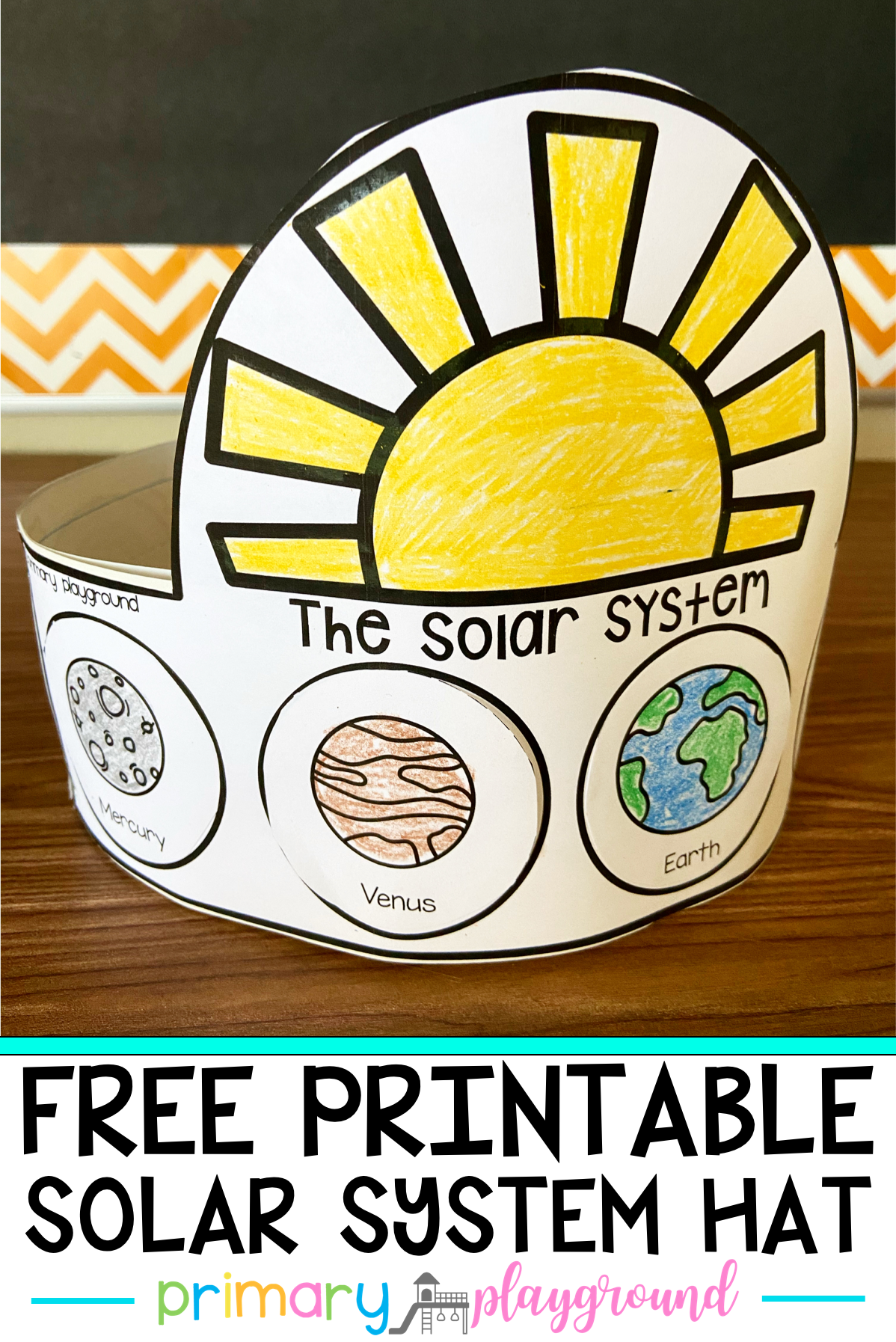 Free Printable Solar System Hat In