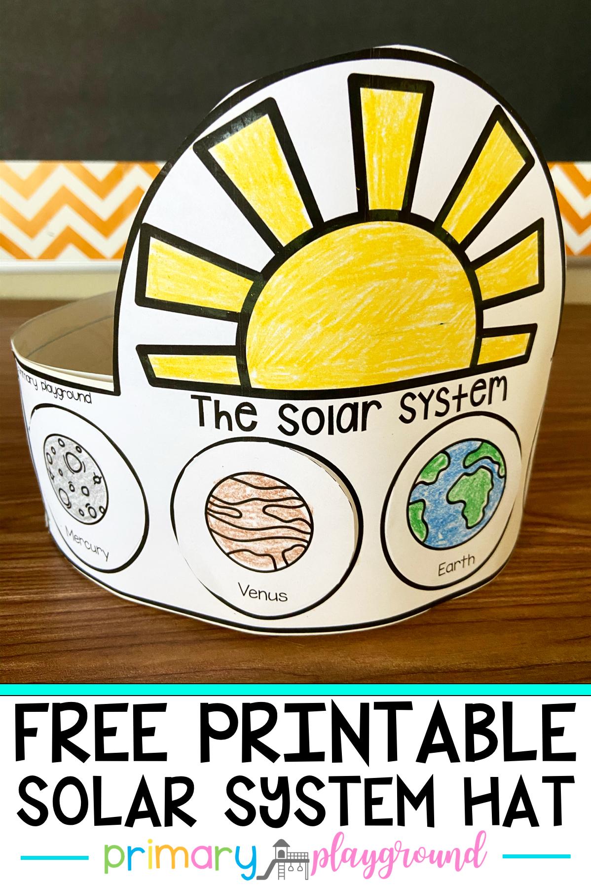 Free Printable Solar System Hat