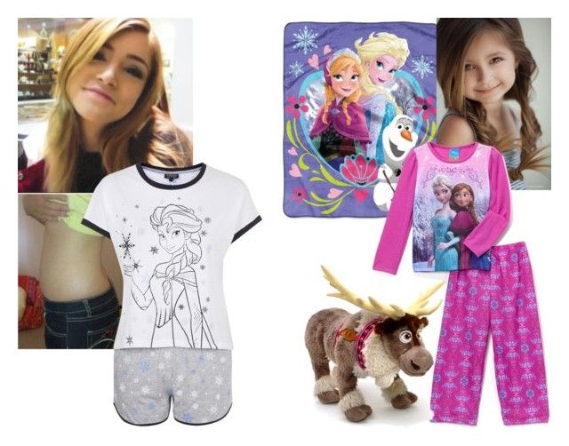 """OOTN Luna and Madison"" by those-sweet-anons ❤ liked on Polyvore featuring Disney and Topshop"