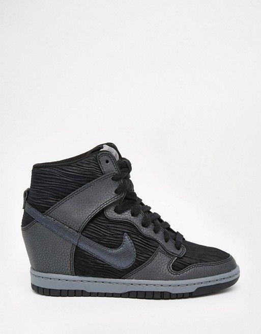Image 1 Nike Dunk Sky Hi Baskets compensées Noir