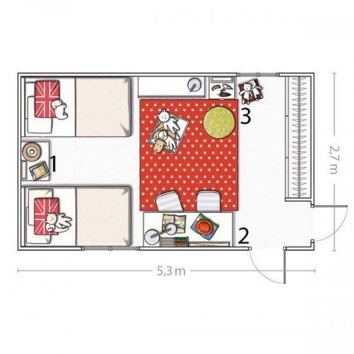 5 Room Designs For Two Girls And Their Layouts Shelterness Small Kids Room Shared Girls Bedroom Kids Shared Bedroom
