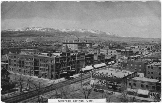 Cityscape Colorado Springs 1915 Postcard Colorado Photo Colorado Springs