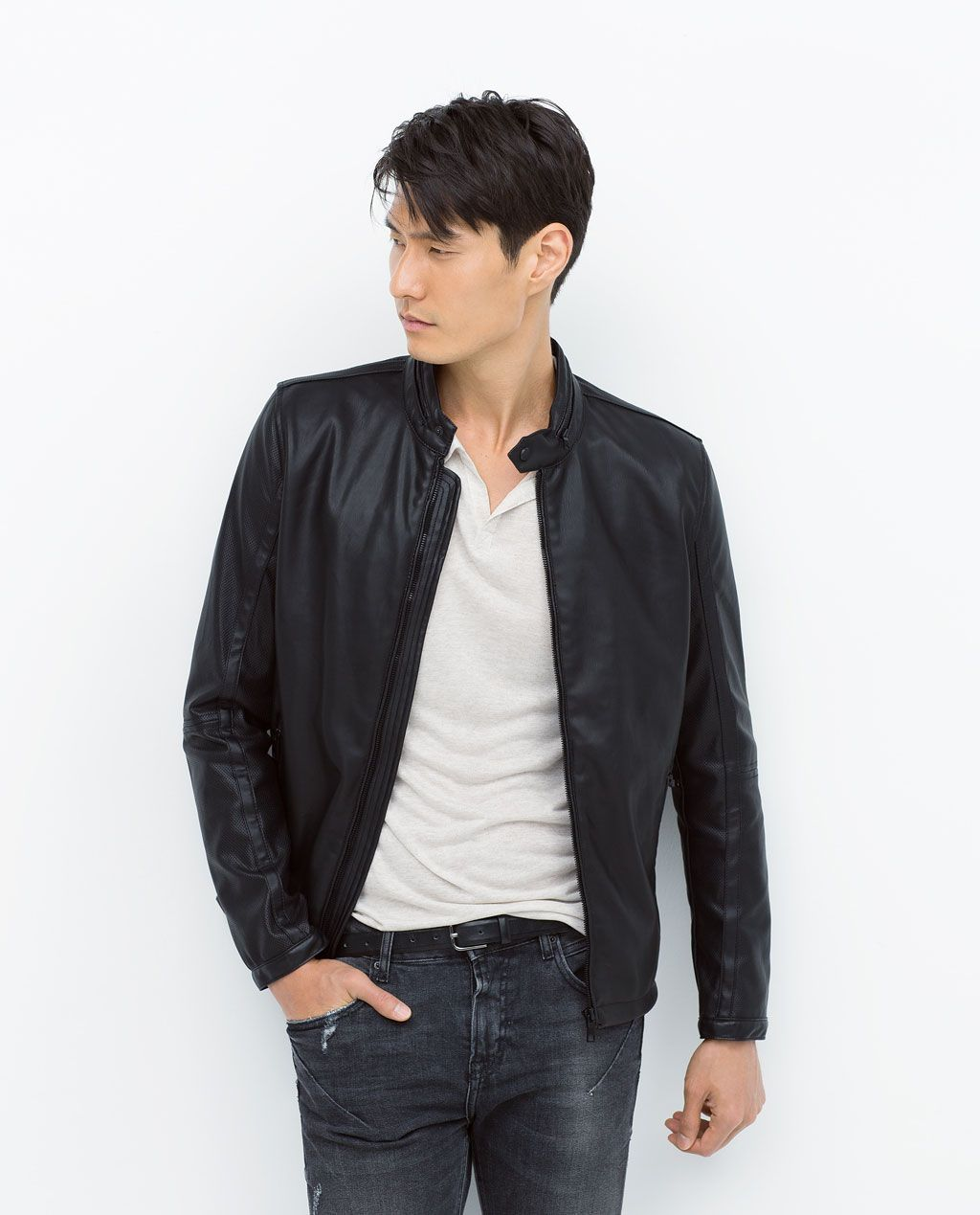 6066192d Image 1 of PERFORATED JACKET from Zara | mens clothing | Jackets ...