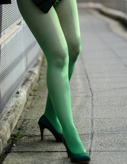 5423b81912ba2 Women`s Legs and Feet in Tights: Legs and Feet in Green Tights 39 ...