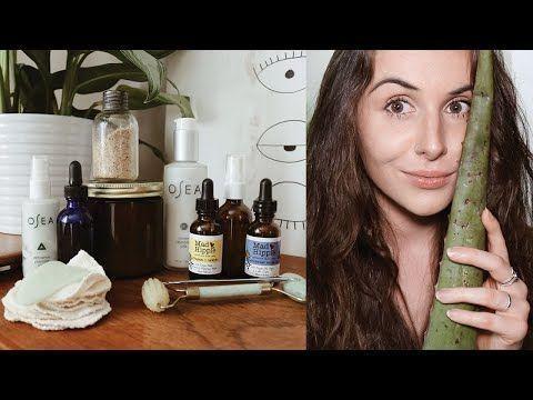zero waste skincare routine  acne remedy mask  natural  vegan  night routine not perfect  YouTube Hautpflege